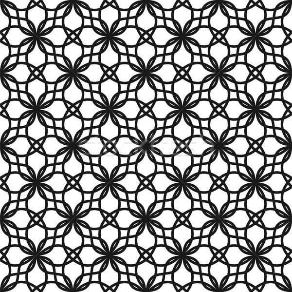 Black and white seamless vector pattern. Stock photo © yopixart