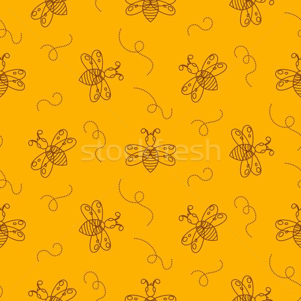 Bee насекомое бесшовный вектора Сток-фото © yopixart