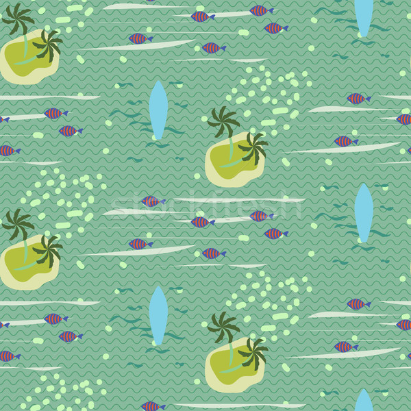 Vintage Hawaii seamless vector pattern. Stock photo © yopixart