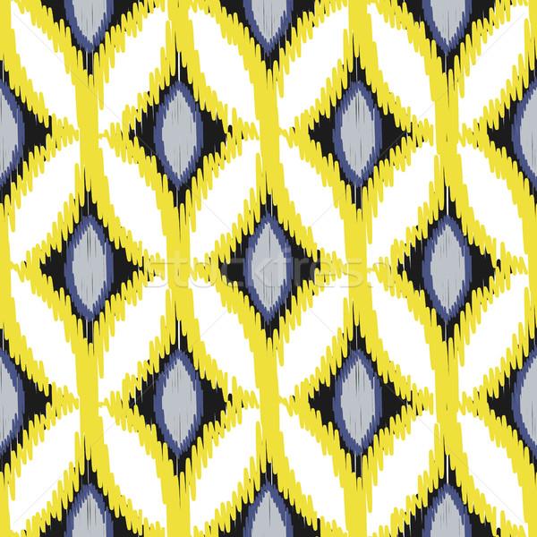 Stok fotoğraf: Vektör · soyut · geometrik · kumaş · baskı