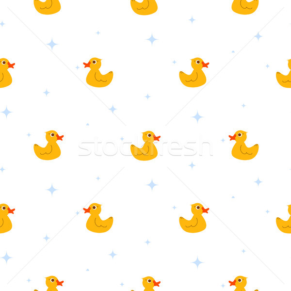Cute radeau étang blanche vecteur Photo stock © yopixart