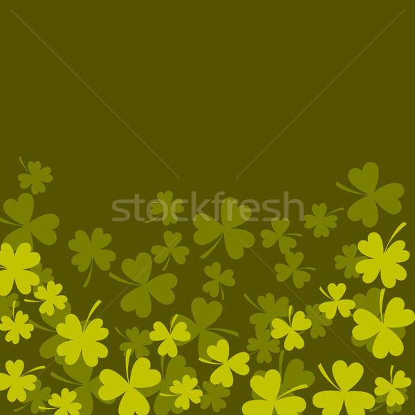 Lóhere shamrock sötét zöld kártya levelek Stock fotó © yopixart