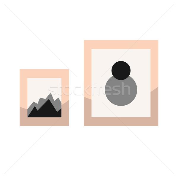 Képek keret fal dekoráció elemek terv Stock fotó © yopixart