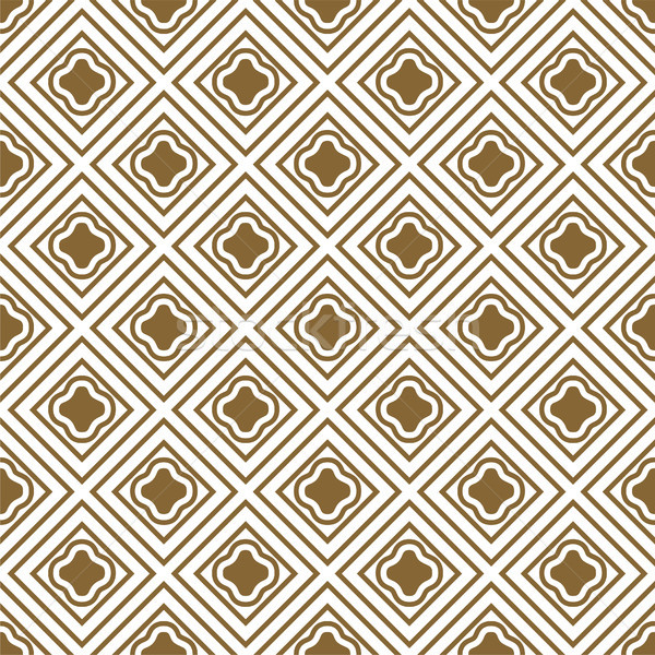 Ouro branco sem costura vetor padrão Foto stock © yopixart