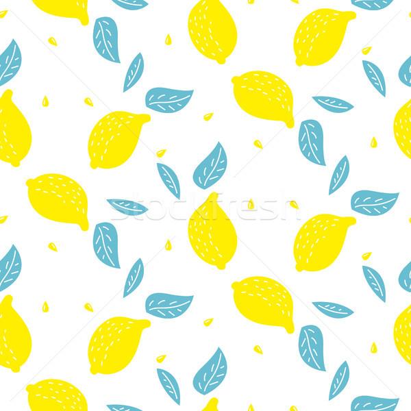 Brilhante verão suculento limão desenho animado Foto stock © yopixart