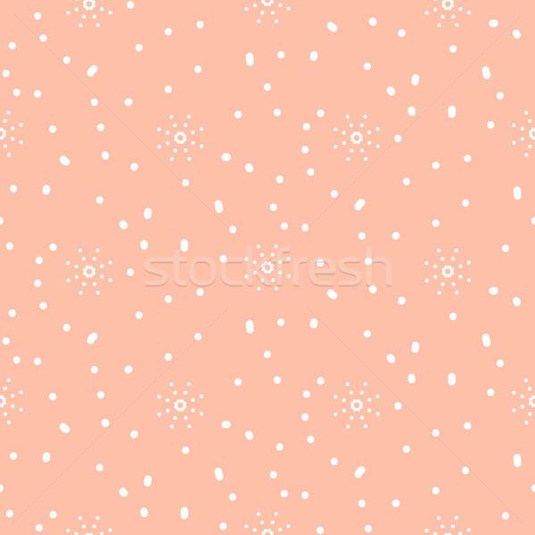 スノーフレーク ピンク 冬 シームレス ベクトル パターン ストックフォト © yopixart