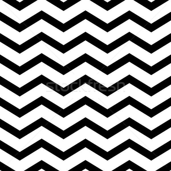 Zigzag vague géométrique lignes vecteur Photo stock © yopixart