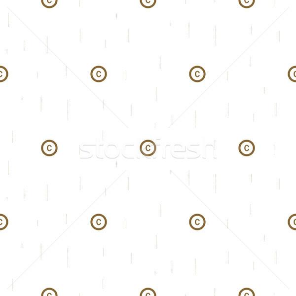 著作権 シンボル 薄い 抽象的な シームレス ストックフォト © yopixart