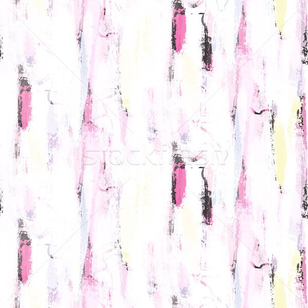 Abstract soft pastel color brushstrokes seamless pattern. Stock photo © yopixart