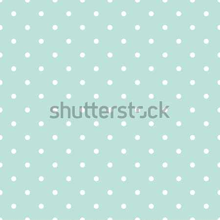 Blue and white polka dot baby seamless vector pattern. Stock photo © yopixart