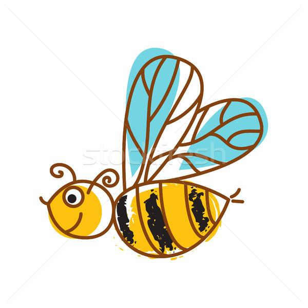ミツバチ 手描き アイコン 孤立した ベクトル かわいい ストックフォト © yopixart
