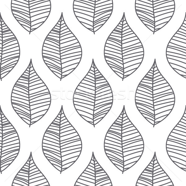 Abstract mesh leaves seamless vector pattern. Stock photo © yopixart