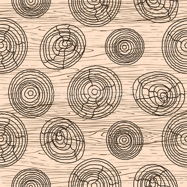 Seamless wood grain pattern. Wooden texture vector background. Stock photo © yopixart