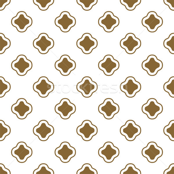 Gold and white ottoman shapes seamless vector pattern. Stock photo © yopixart