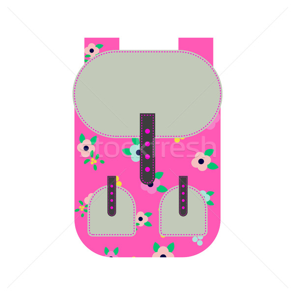 Pink backpack vector illustration. Stock photo © yopixart