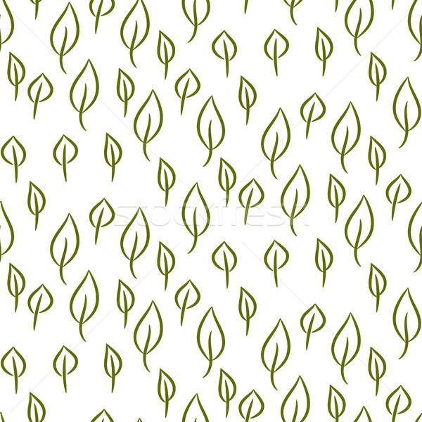 Linha sem costura vetor padrão branco Foto stock © yopixart