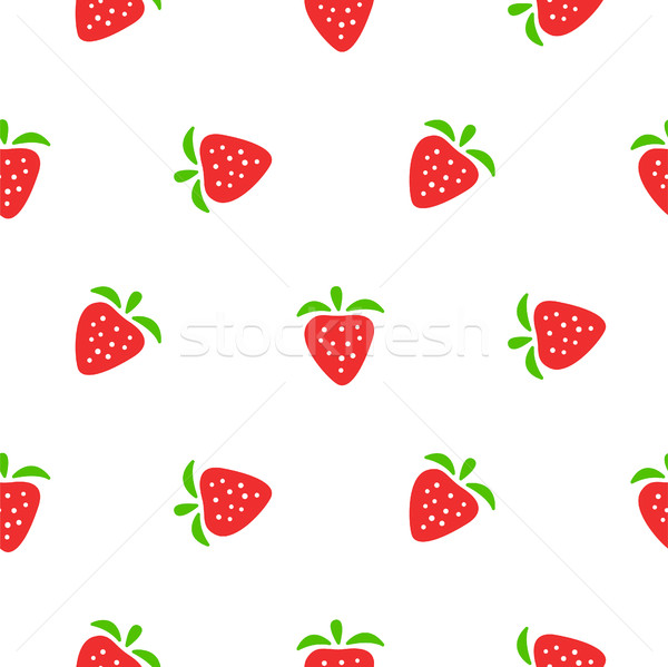Cute aardbei Rood witte naadloos Stockfoto © yopixart