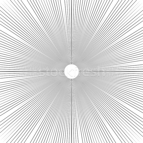 Sunburst background thin radial lines vector. Stock photo © yopixart