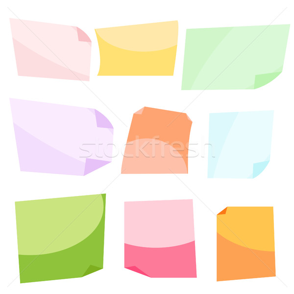 Sticky notes. Stationery clip vector. Stock photo © yopixart
