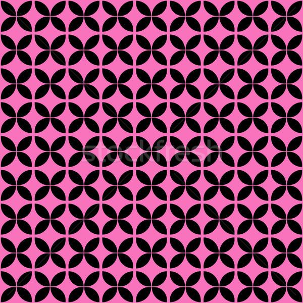 Roze zwarte meetkundig vector kruis Stockfoto © yopixart