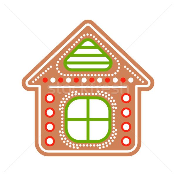 Gingerbread house cookies vector illustration. Stock photo © yopixart