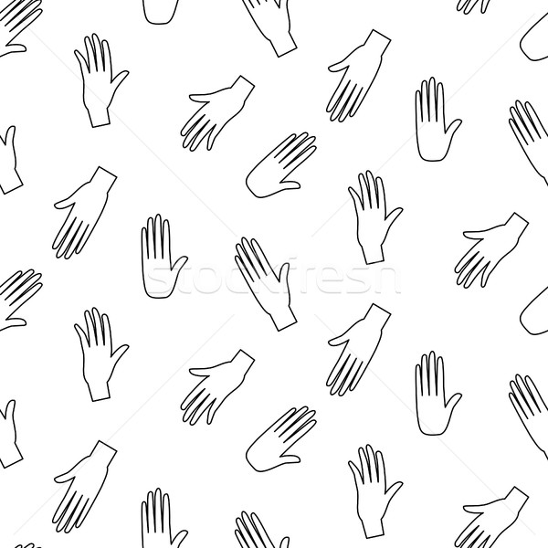 Hands hipster vector seamless pattern. Stock photo © yopixart