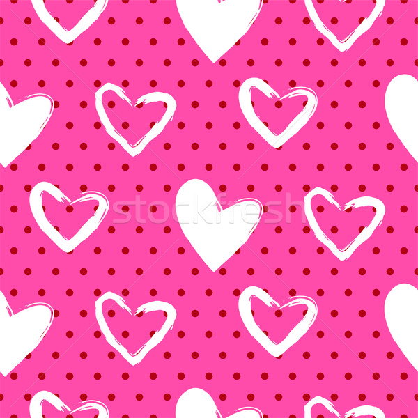 Romantic valentine seamless vector pattern. Stock photo © yopixart