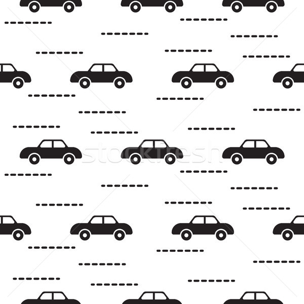 Car cute baby vector scandinavian seamless pattern. Stock photo © yopixart