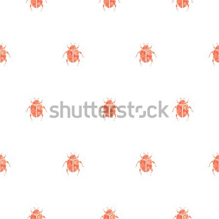 Beetle rose gold and white vector seamless pattern for print. Stock photo © yopixart