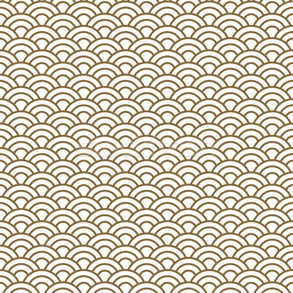 Сток-фото: Японский · волна · традиционный · вектора · золото