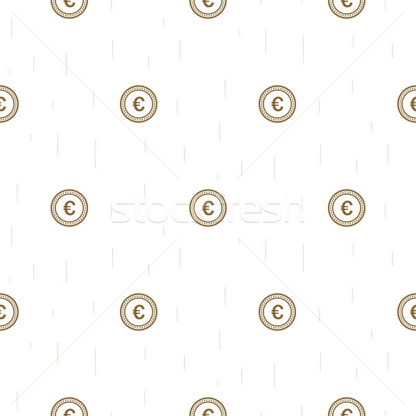 Euro currency symbol abstract seamless pattern. Stock photo © yopixart