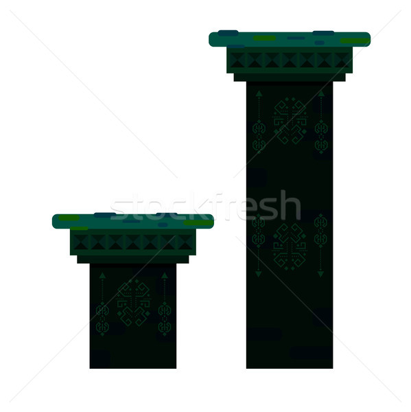Ancient columns isolated vector illustration. Stock photo © yopixart