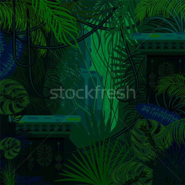 Dense foliage jungle nature background. Stock photo © yopixart