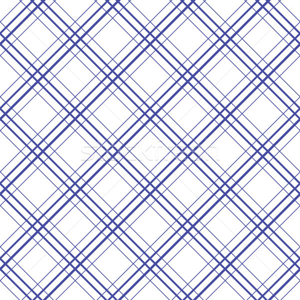 Geometric plaid diagonal line blue and white minimalistic pattern. Stock photo © yopixart