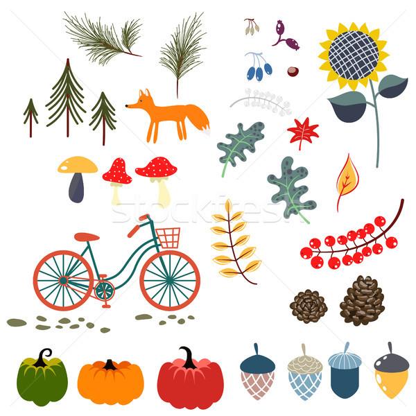 商业照片: 秋天 · 下降 · 剪贴画 · 向量 · 插图 · 森林