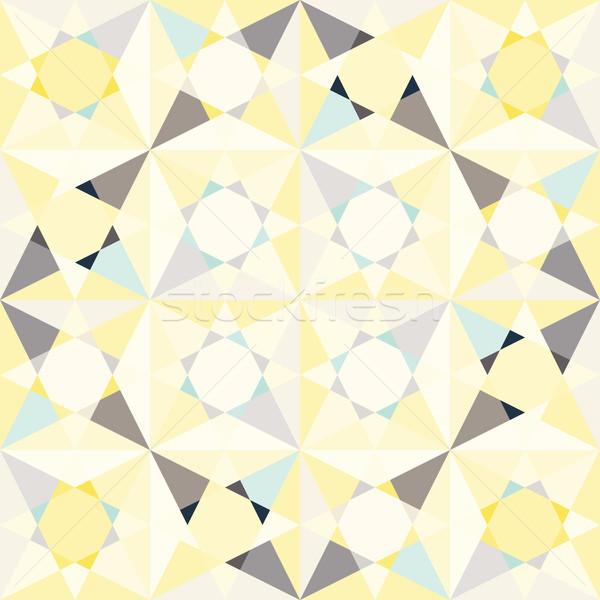 Caleidoscópio vidro mosaico azulejos sem costura vetor Foto stock © yopixart