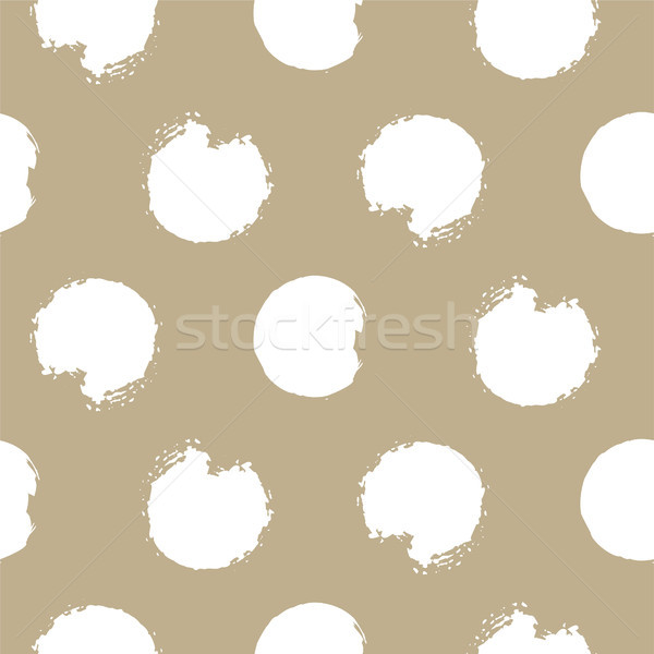 Gold and white bold rough dots seamless vector pattern. Stock photo © yopixart