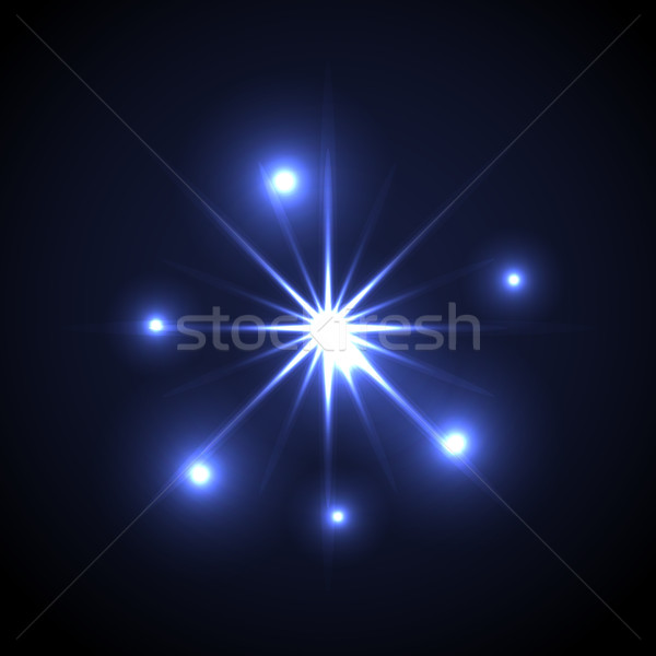 Shining vector star illustration. Glow spot radiance. Stock photo © yopixart