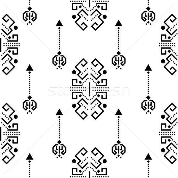 Ethnic tribal ornament seamless vector pattern. Stock photo © yopixart