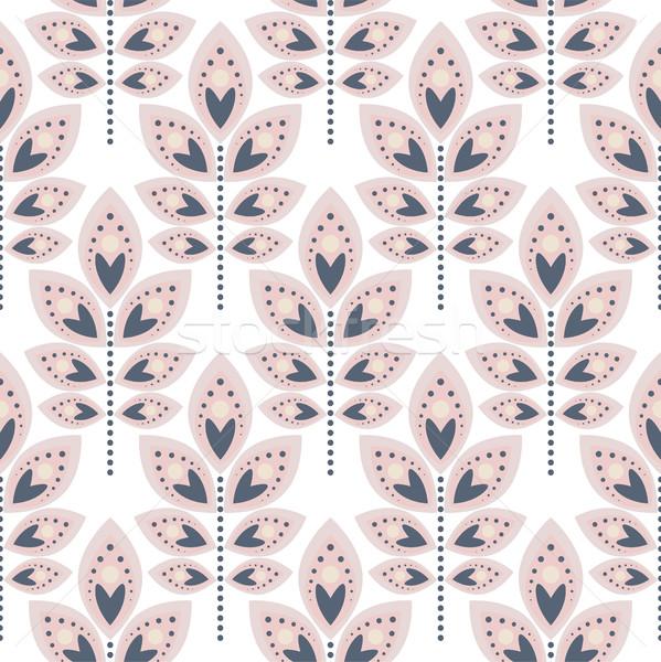 стилизованный лист бледный розовый цветочный Сток-фото © yopixart