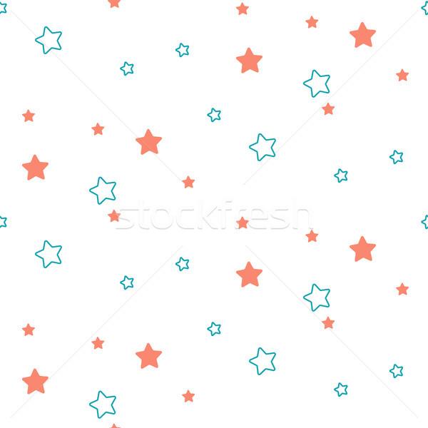 Csillag forma kék zöld végtelenített gyerek Stock fotó © yopixart