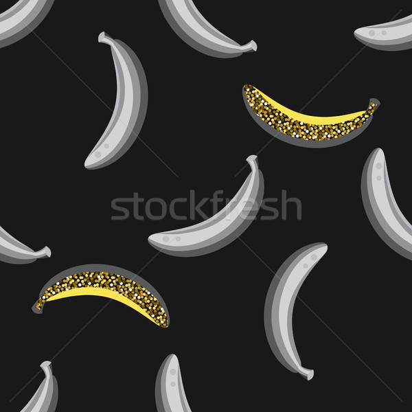 Banana fruit seamless pattern. Stock photo © yopixart