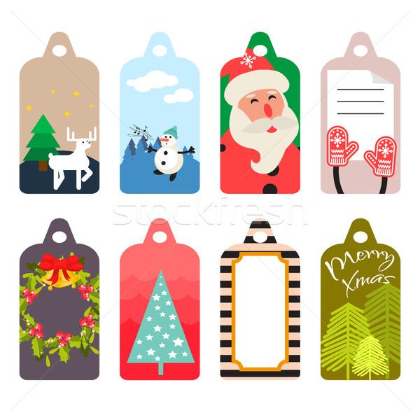 Natal dom membro vetor conjunto inverno Foto stock © yopixart