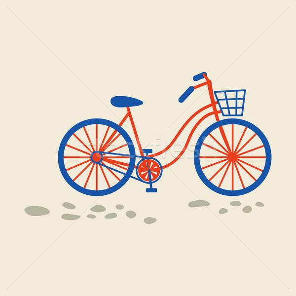 Retro bicycle with bin on the front wheel. Stock photo © yopixart