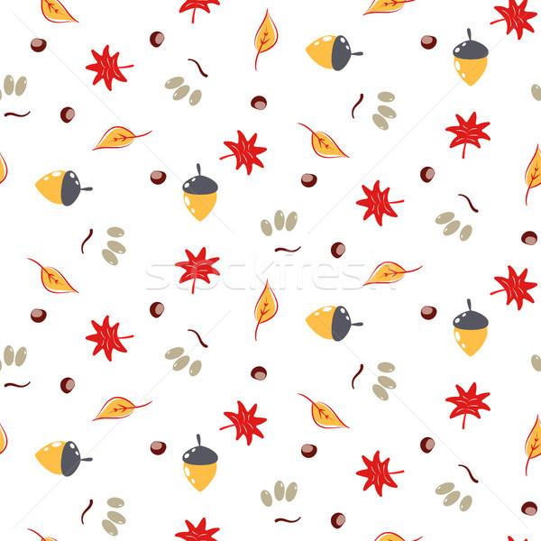 Automne feuillage vecteur modèle automne Photo stock © yopixart