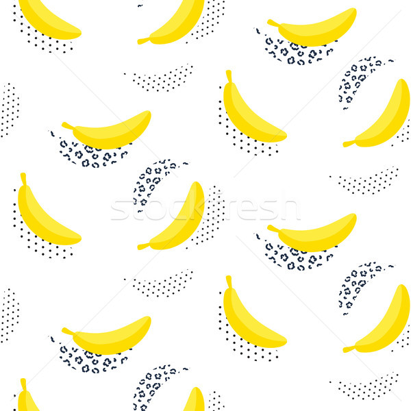Banana pop art seamless vector pattern on white. Stock photo © yopixart