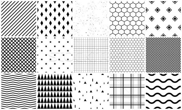 Végtelen minta vektor szett mértani textúrák egyszerű Stock fotó © yopixart