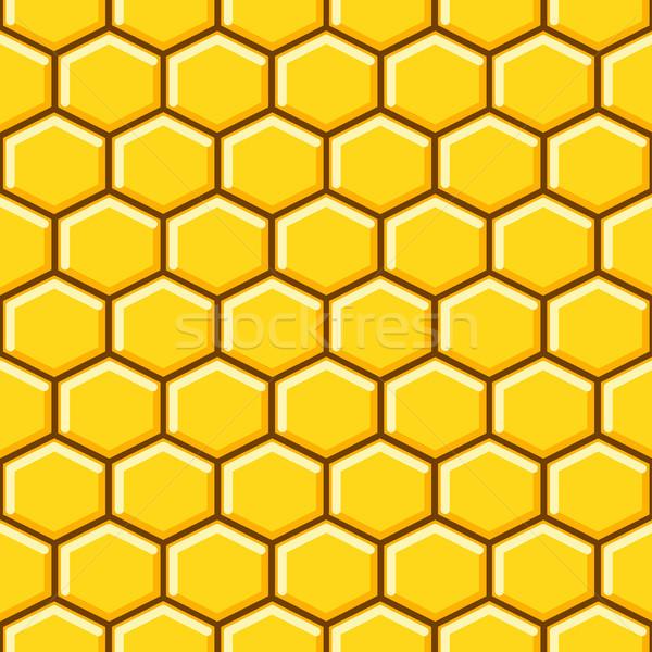 En nid d'abeille modèle vecteur jaune papier Photo stock © yopixart