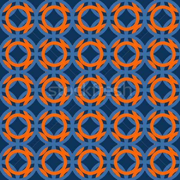 日本語 パターン 青 オレンジ 色 日本 ストックフォト © yopixart