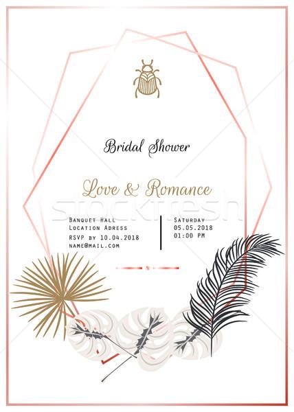 Bridal shower vector template design. Stock photo © yopixart